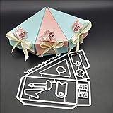 YunTrip - Troqueles de corte para hacer tarjetas, caja de regalo de caramelos, triángulo, plantilla de corte de metal, álbumes de recortes, tarjetas de papel, para manualidades decorativas