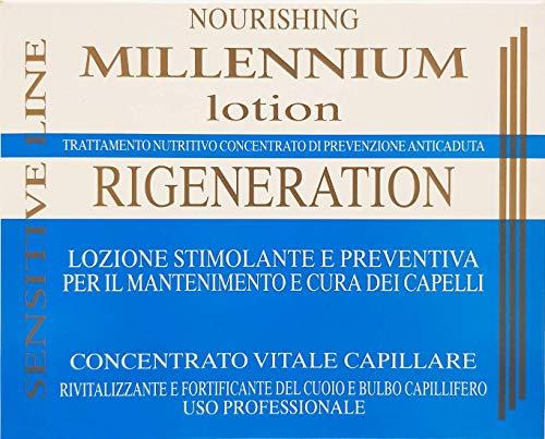 Lozione per Capelli Rigenerante e Rivitalizzante Per il Mantenimento e la Cura Dei Capelli al Mentolo 7 Fiale da 10ml Professionale Linea Millennium Made in Italy