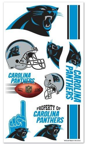 Carolina Panthers NFL Temporary Tattoos (10 Tattoos)