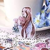 BLOUR 28 pz Creativo Carino Auto-FattoSen Femminile Fresca Bellezza Ragazza Scrapbooking...