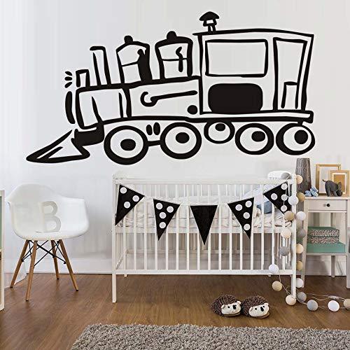 haochenli188 Cartoon Zugleiter Wandaufkleber Für Kinderzimmer Dekoration Transport Wandbild Kinder Home Decals Kindergarten P 58x31 cm