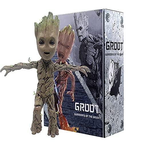 YXCC Estatua de Guardianes de la Galaxia Groot Arbolito Bebe Figura de Caja extraíble de Guardianes...