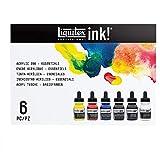 Liquitex Ink Pack de 6 tintas acrílicas extrafinas, Essentials Set,...