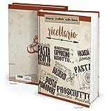 Libro de recetas italiano XXL con tapa dura, para escribir tú mismo RICETTARIO MEINE Receptas, 164 páginas, regalo para coleccionar recetas, libro en blanco