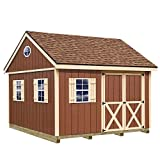 Best Barns Mansfield 12 ft. x 12 ft. Wood Storage Shed Kit with Floor Including 4 x 4 Runners