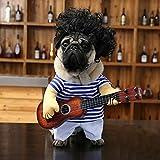 直立おかしい猫おかしいの変容機器を立っインストールギタリスト演奏ギターを回しインストールペットの犬になって HeFeiYuTongGuangGaoChuanMei (Color : Headgear, Size : Large)