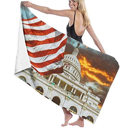 Grande Suave Ligero Microfibra Toalla de Baño Manta,Washington DC Estados Unidos Landmark National,Hoja de Baño Toalla de Playa por la Familia Hotel Viaje Nadando Deportes,52' x 32'