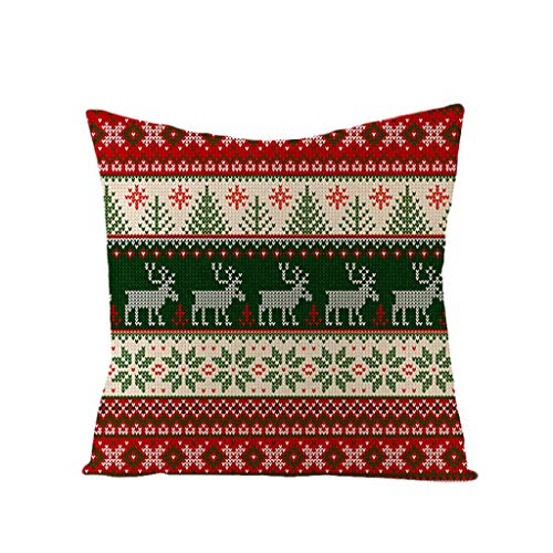 Red Merry Christmas Decorations Let it Sonw Wishes Winter Pillow Covers Set