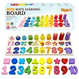 TOYLI Educational Math Learning Board and Puzzle Wooden 4 in 1 for Toddler...
