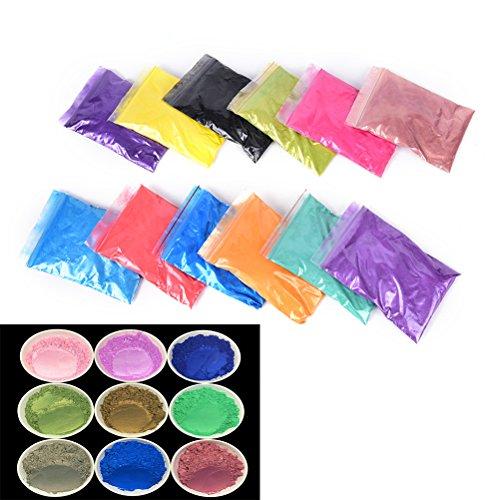 Générique Neuf Neuf Saine minéral Naturel Poudre de mica DIY pour Savon Savon Teinture Coloration Maquillage Fard à paupières Poudre de Savon Soins de la Peau, Rose, 10g