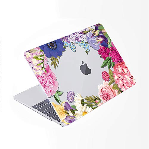 SDH Case for MacBook Pro 16 inch 2019 Release A2141, Plastic Pattern Hard Shell & Laptop Sleeve Bag & Keyboard Cover for Mac Pro 16-inch Retina Touch Bar & ID 4 in 1 Bundle, Flower World 6