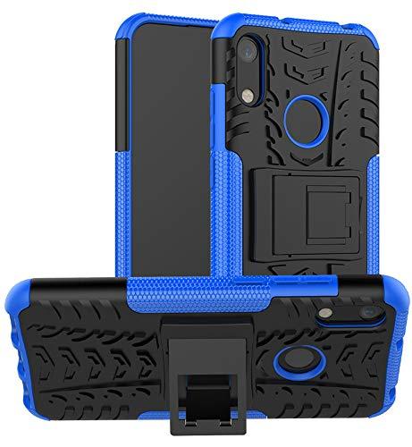 Yiakeng Hülle Huawei Y6 2019/Honor 8A Handyhülle, Doppelschicht Stoßfest Schlank Ganzkörperschutz Mit Ständer für Huawei Y6 2019 (Blau)