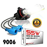 55W 9006 HB4 6000K Heavy Duty HID Xenon Replacement Bulbs for Aftermarket HID kit (Pack of 2 Bulbs) (Daylight)
