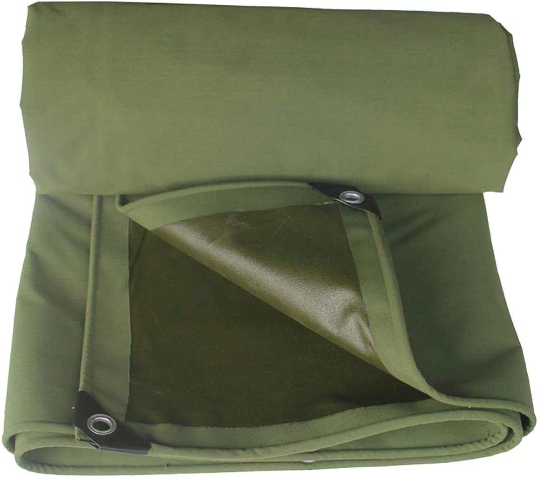 Heavy Duty Waterproof Canvas Tarpaulin Rainproof Tarpaulin Tent Shade Plus Rope Edging,Corner Predector Tarpaulin Green