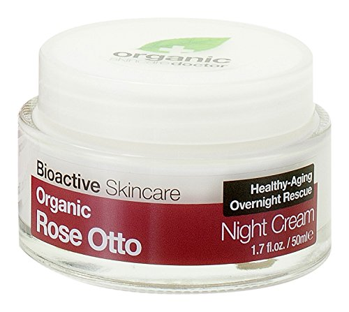 Dr. Organic Crema De Noche Rosa De Damasco 50Ml. 1 Unidad 300 g
