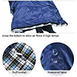 REDCAMP Wide Sleeping Bag for Adult, Cotton Sleeping Bag with Hood for 3-4 Season Winter Cold Weather Camping Fishing