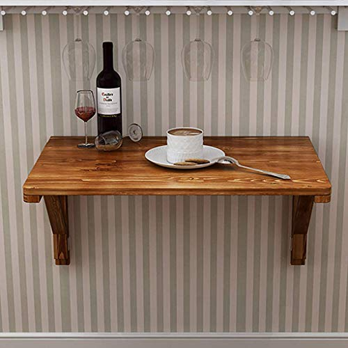 Folding Tables Mesa Plegable de Pared con Estante Integrado Mesa de Comedor...