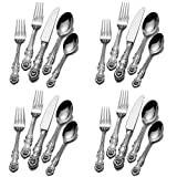 Wallace Lion 18/10 Stainless Steel 20pc. Flatware Set (Service for Four)