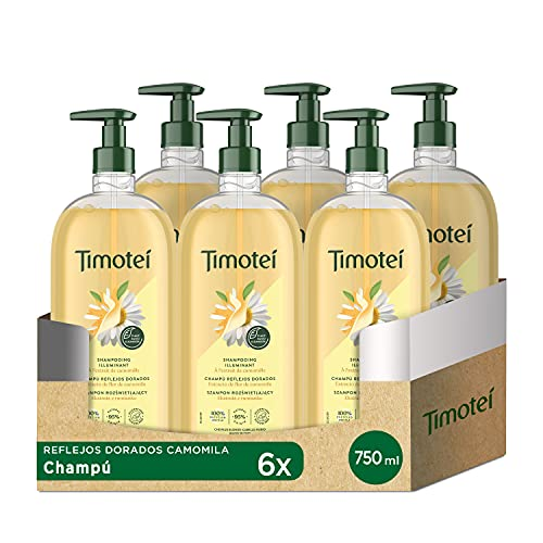TIMOTEI Champú Manzanilla Golden Reflections 750 ml - Paquete de 6