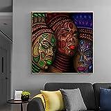 Avdgfr HD Art Print Images-[African Woman Ethnic Style Portrait] Canvas Prints for Living Room-Canvas Prints ImageHome Decoration 50X50cm Frameless