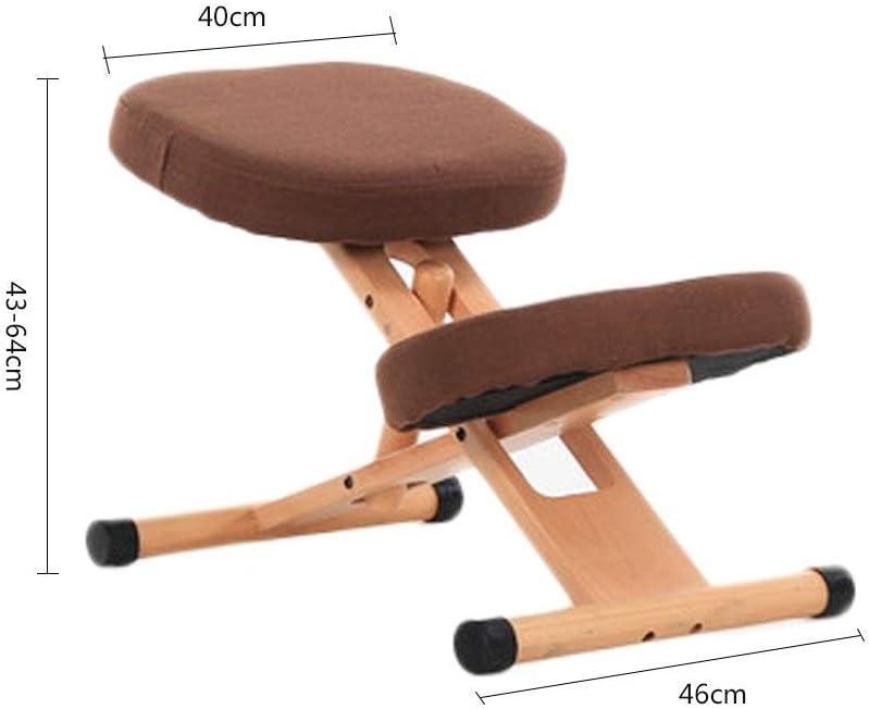 YLJYJ Chaises à Genoux Tabouret réglable La Chaise orthopédique Ergonomique Aide à réduire la Douleur au Bas du Dos (Couleur: Kaki) Khaki