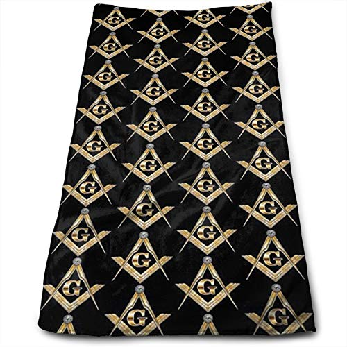 Hand Towels Masonic Square Highly Absorbent Quick-Dry Towels for Hand Face Bathroom Hotel Gym Spa 12' X 27.5'