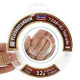 REAWOW Ligne De PêChe 100% Fluorocarbone Ligne De PêChe Invisible à 50 MèTres RéSistant à l'usure Virtual Invisible Quicker Sinking Ultra-Sensitive Wear-Resistant (28)
