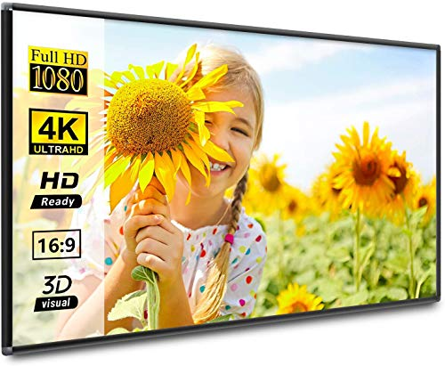 HOIN Frame Projector Screen 120 inch 16:9 HD 4K Movies Screen Portable Widescreen Foldable Anti-Crease Indoor Outdoor Projection Movies Screen for Home Theater Match Party