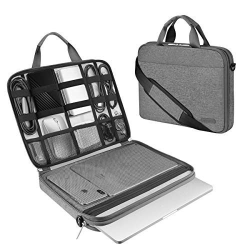 ARVOK 13 13.3 14 Inch Laptop Sleeve and Accessory Case with Strap & Handle, Notebook Computer Case Briefcase Carrying Bag for for Acer/Asus/Dell/Lenovo/HP (13.3 inch, Gray)