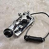 WANJIA K4 Tecla Radio de Onda Corta Radio Código Morse Tecla CW Telegraph Tecla Manual Tecla Pesada