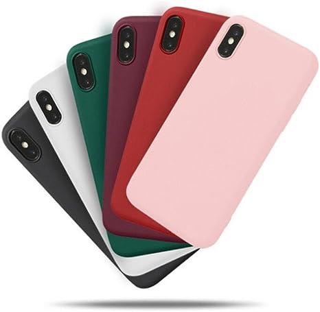 Freessom Coque iPhone 7/8 Silicone Rose Poudre Pale Mat Apple Couleur Souple Slim Simple Anti Choc Ultra Mince Fine Originale Fantaisie Leger en TPU ...