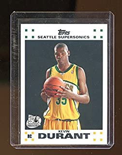 09a343dabc9 2007-08 Topps Rookie Set  2 Kevin Durant Seattle Sonics Rookie Card - Mint