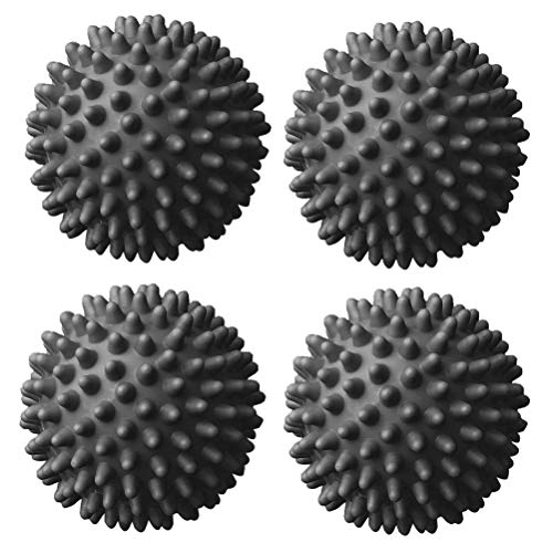 nuoshen 4 Pieces Dryer Tumble Balls,Grey Reusable Dryer Laundry Balls Dryer Cubes for Non-Melt new softer material