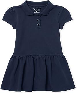 The Children's Place Baby Girls' Toddler Uniform Short Sleeve Polo Dress