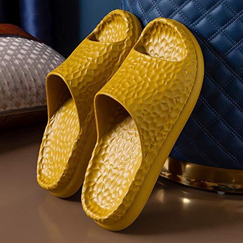 XZDNYDHGX Antideslizante para Baño Piscin Zapatillas de Plataforma de Verano Unisex de Color Amarillo Oscuro, Sandalias de baño Antideslizantes de Fondo Suave para el hogar, Zapatos EU 43-44