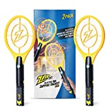 ZAP IT Bug Zapper Twin-Pack Rechargeable Bug Zapper Racket, 4,000 Volt, USB Charger, Mini, Yellow