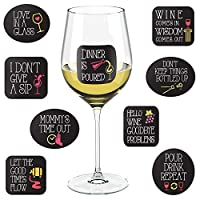 Wine Party Decorations - 18 Static Clings Reusable Stickers - For Wine Tasting Party, Wine Gift and Favors [並行輸入品]