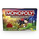 Monopoly Juego más Largo de la Historia, Juego clásico de monopolio con Juego extendido; Juego de Mesa monopolio para Edades de 8 en adelante