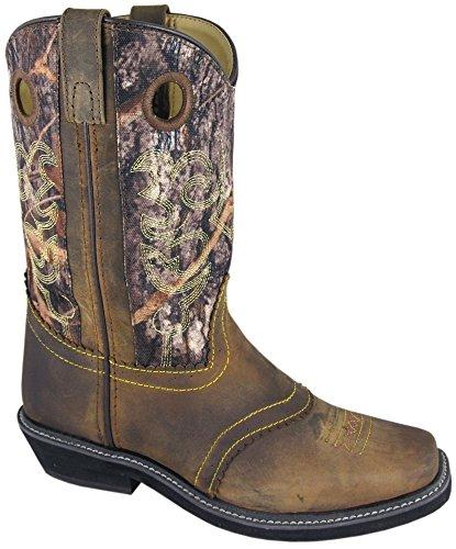Smoky Mountain Ladies Pawnee Square Toe Boot Brown Oil Distress/Camo Brown Oil Distress/Camo 11