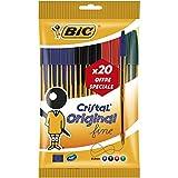 Bic Cristal Fino 912 273 no retráctil bolígrafo Negro/Azul/Rojo/Verde