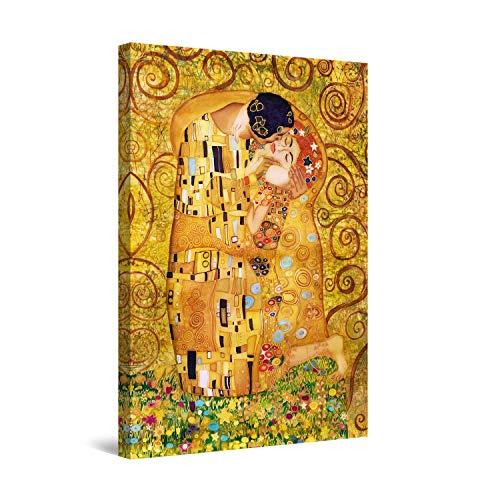 Startonight Cuadro Moderno en Lienzo Pintura Árbol de la Vida, Beso Klimt,...