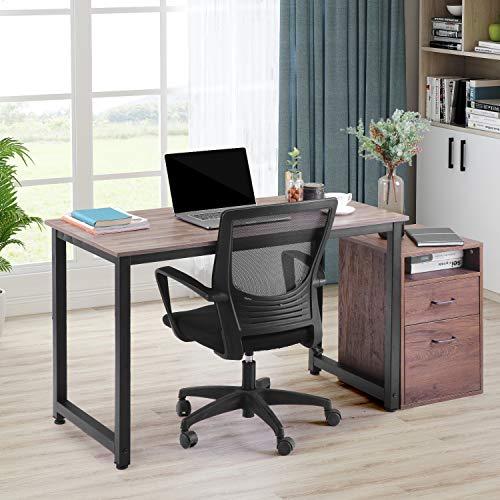 Merax Schreibtisch Computertisch PC Tisch Bürotisch Officetisch Stabile für Zuhause Büro Schlafzimmer Rleichterte Montage,120 x 60 x 75cm (Braun)