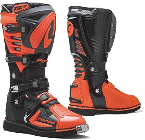 Forma Predator 2.0 - Botas para Moto (homologación CE, Color Negro/Antracita/Naranja)