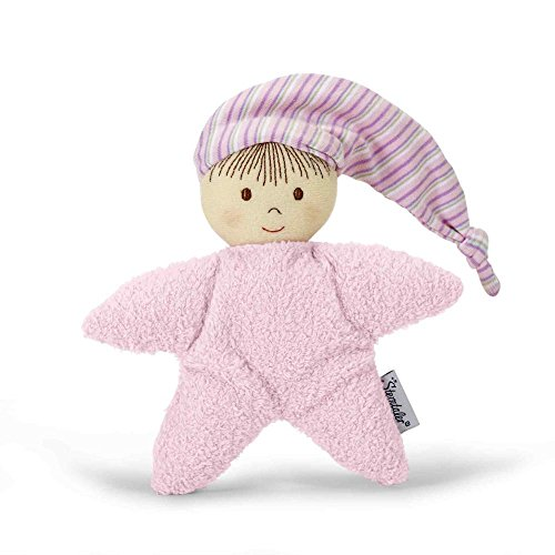 Sterntaler 3001451 Spielpuppe, Integrierte Rassel, Alter: Für Babys ab der Geburt, 16 cm, Rosa