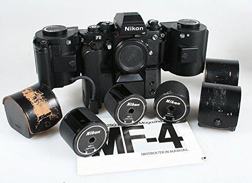 Fantastic Deal! Rare Nikon F3 HP MD -4 MF -4 250 Exposure Back,Film Chamber, W/ 3 More Cartridge
