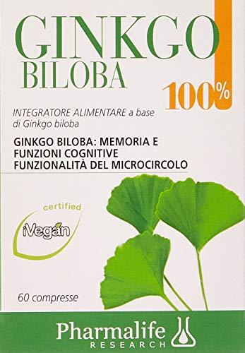Pharmalife Ginkgo Biloba 100{fa7ff097595da49bc60374df69392477db3a568477d4104d57b2d744c3dcd0e5}, 60 Compresse