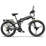 Cyrusher XF770 折り畳み自転車 マウンテン自転車 フルサスペンション 48V 10Ahバッテリー モーター500W (白)