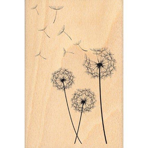 Florilèges Design FHA213012 Scrapbooking-Stempel Pusteblume, Beige, 15x10x 2,5cm
