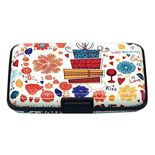 Ahomi Fashion Vrouwen Kleur Print RFID-scannen Bescherm Card Box Credit Card Portemonnee
