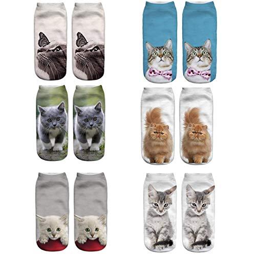 Meiping Frauen Frohe Weihnachten 6 STÜCK Casual Socken für Mädchen